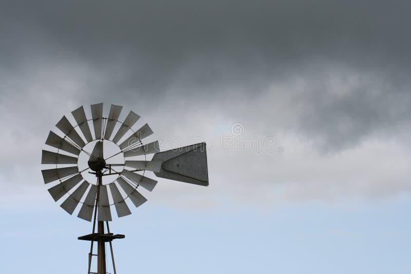 västra windmill royaltyfria foton