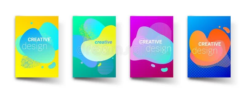 Vätskebakgrund för färglutningmodell, grafisk design för idérik konst För vätskeformer för vektor moderna geometriska bakgrunder stock illustrationer