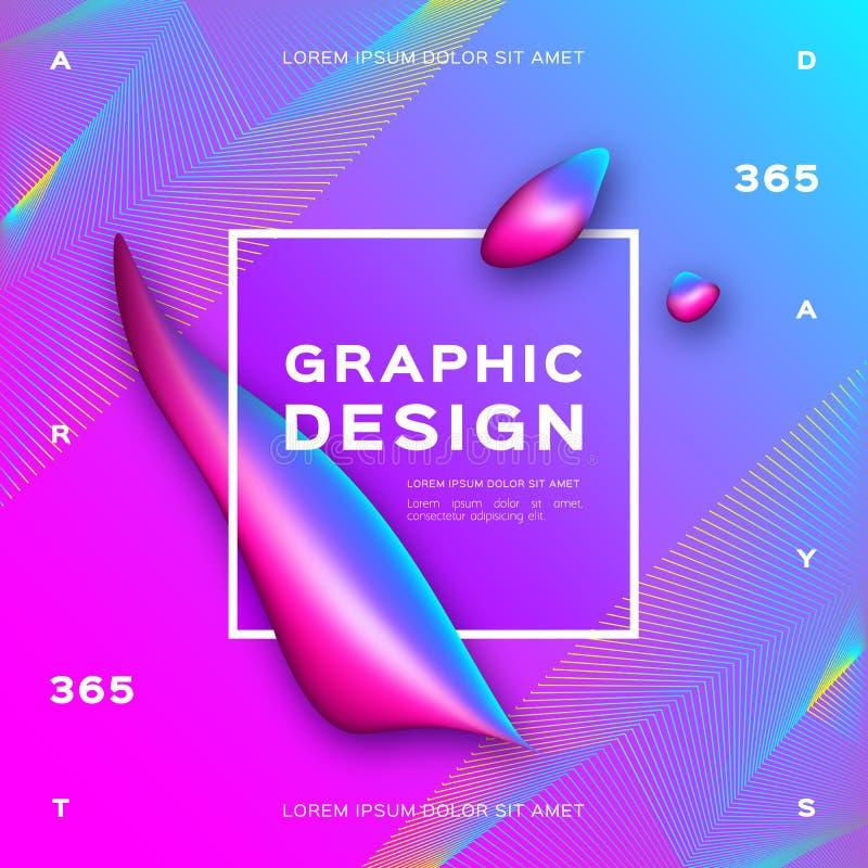 Vätskebakgrund, lutningvätskeformer geometrisk abstrakt bakgrund Moderiktig affisch för grafisk design, vektor vektor illustrationer