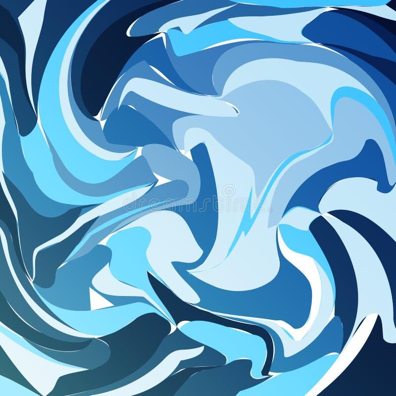 Vätskebegrepp för abstrakt kall färgpiruett för bakgrund stock illustrationer