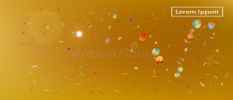 Vätskebred utrymmebakgrund för abstrakt begrepp ultra royaltyfri illustrationer