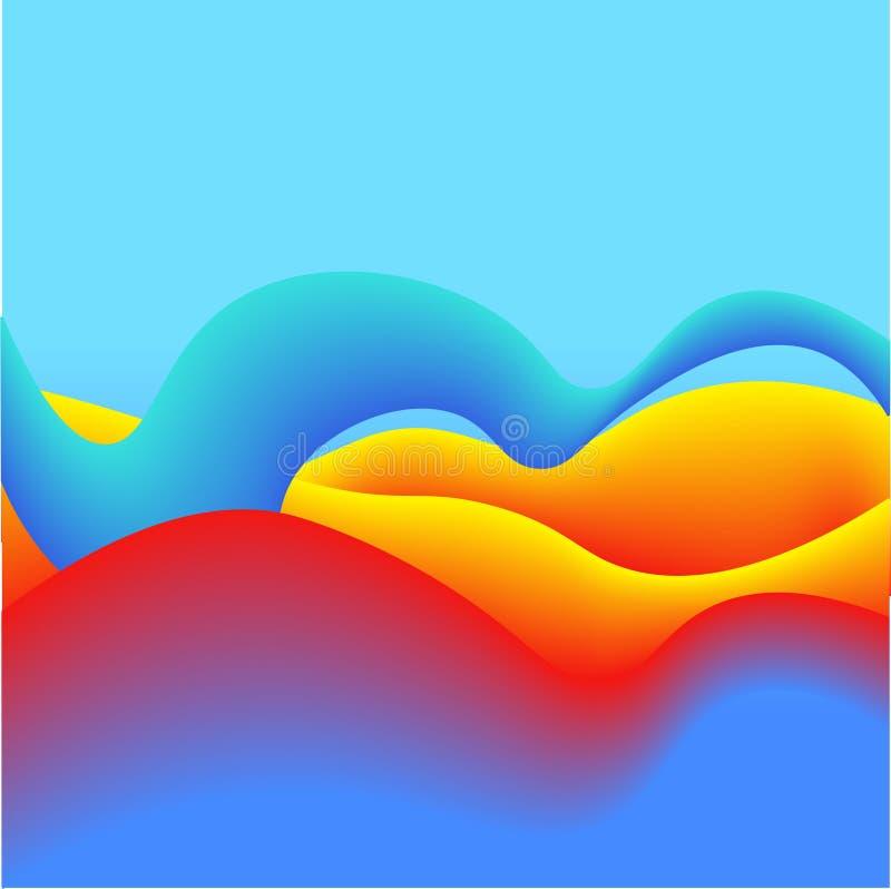 Vätskefärger med röda gula Violet Gradient Abstract Background Göra perfekt för räknings-, tryck-, affisch- och reklambladdesign vektor illustrationer