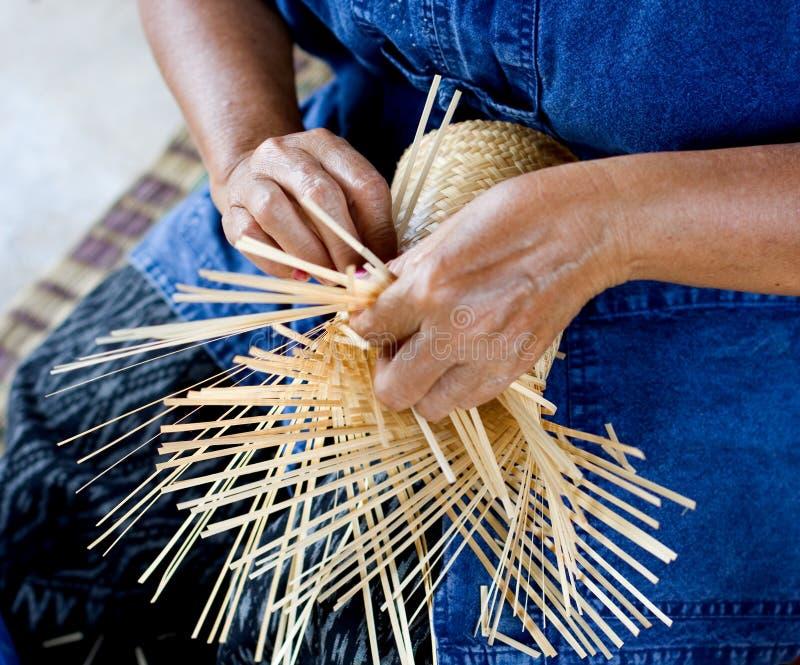 väva för bambu royaltyfri bild