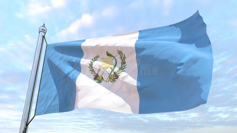 Väva flaggan av landet Guatemala royaltyfri foto