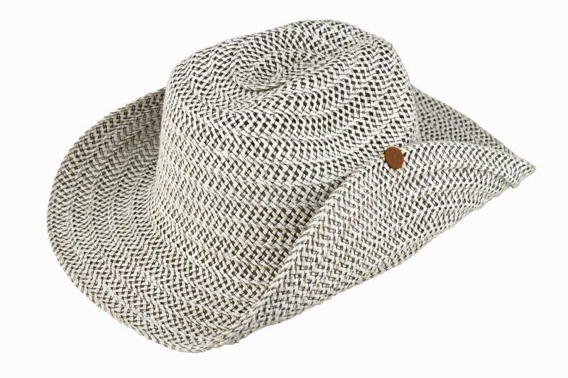 Väva hatt som isoleras på vitbakgrund arkivbilder