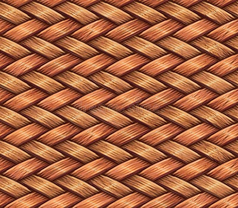 väva som är trä stock illustrationer