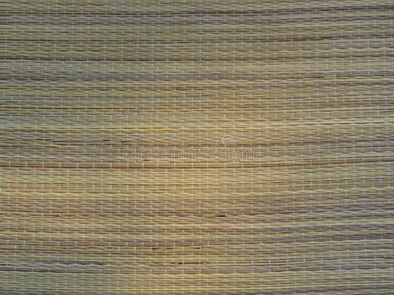 Vävd bambu Mat Background Straw Weave Texture Lantlig livsstil royaltyfri fotografi