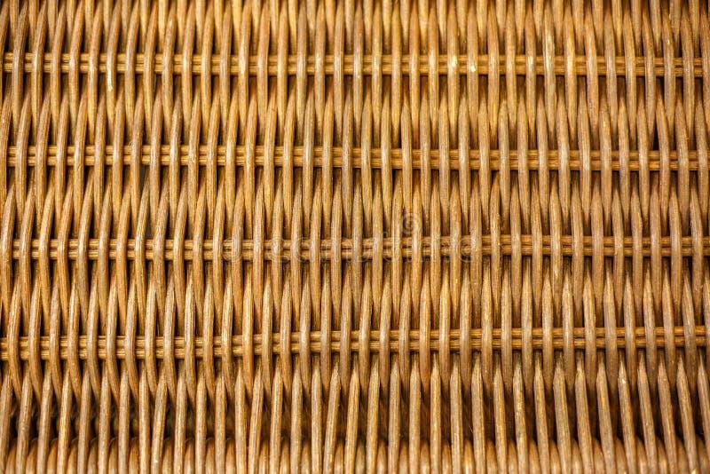 Vävd bambu, rottingstaket, bakgrund, sugrörvävtextur arkivbilder