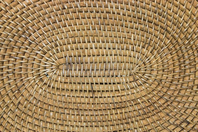 Vävd bambucloseup arkivfoton
