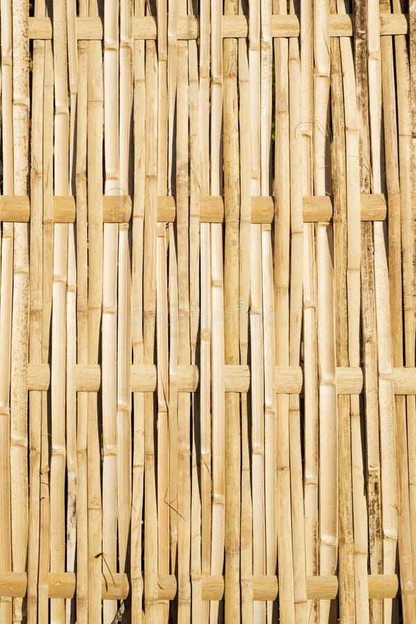 vävd bambustaketpanel royaltyfri foto