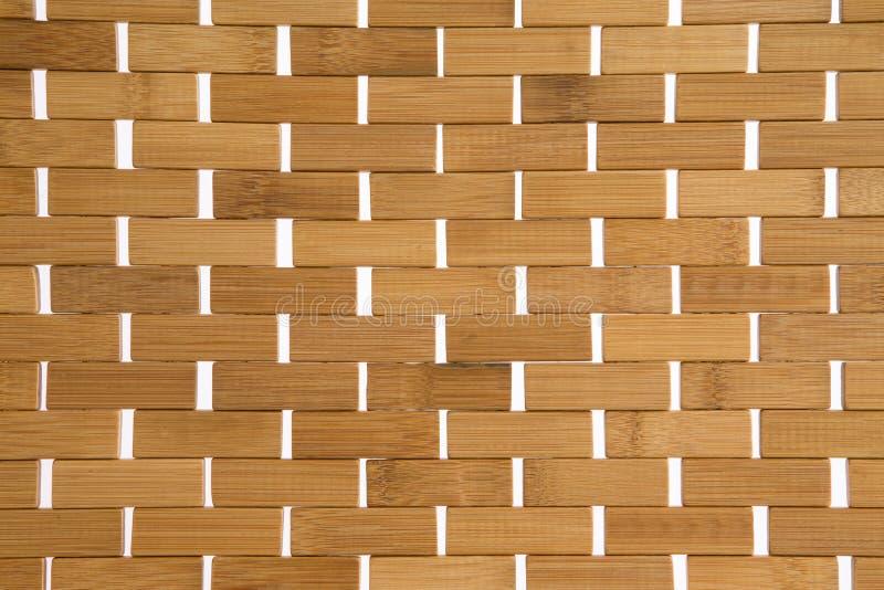 Vävd matt bakgrundstextur för bambu royaltyfria bilder