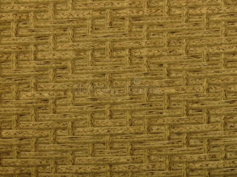 Vävt bamburottingstaket Background Straw Weave Texture Rottingmöblemangtextur arkivbild