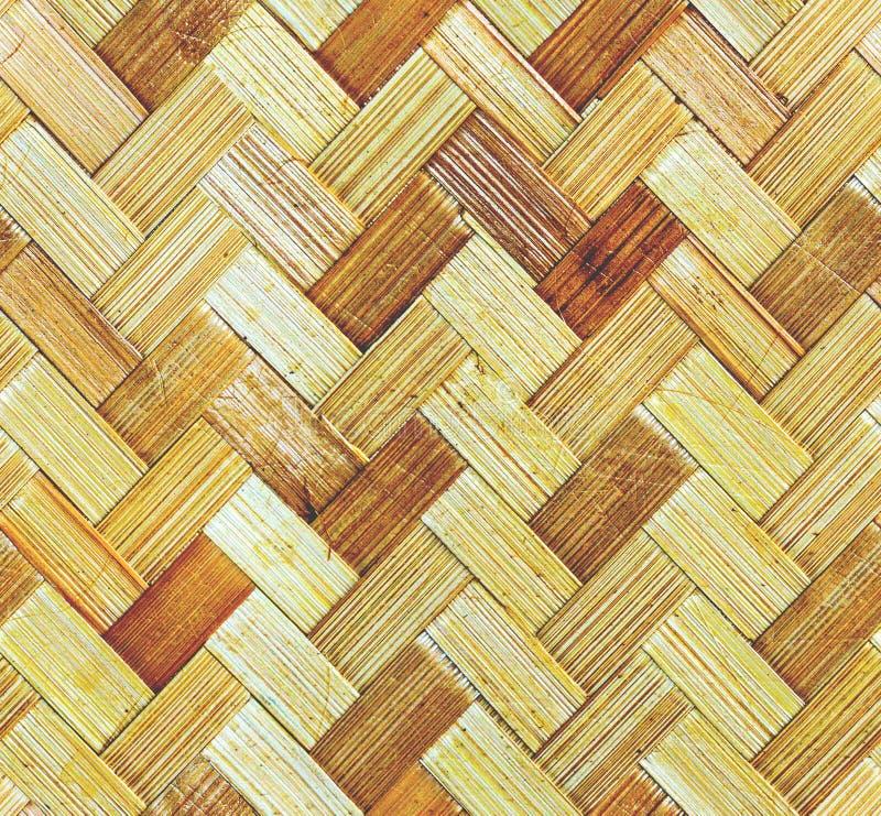 Vävt trä mönstrar bakgrund arkivfoto