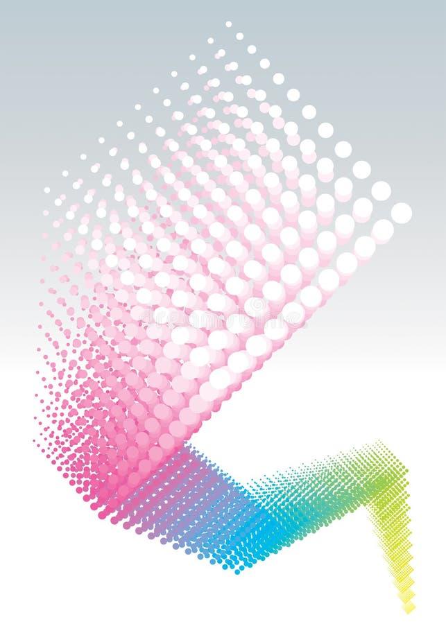 växa för färgdesignprickar royaltyfri illustrationer