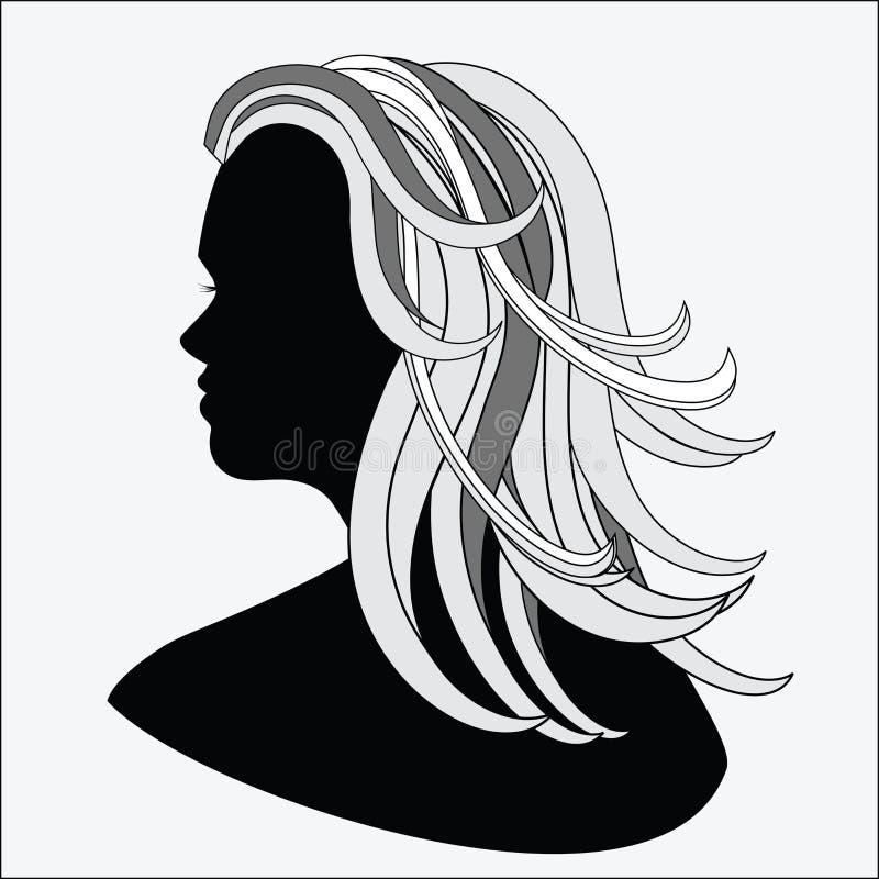 växande äldre kvinna stock illustrationer