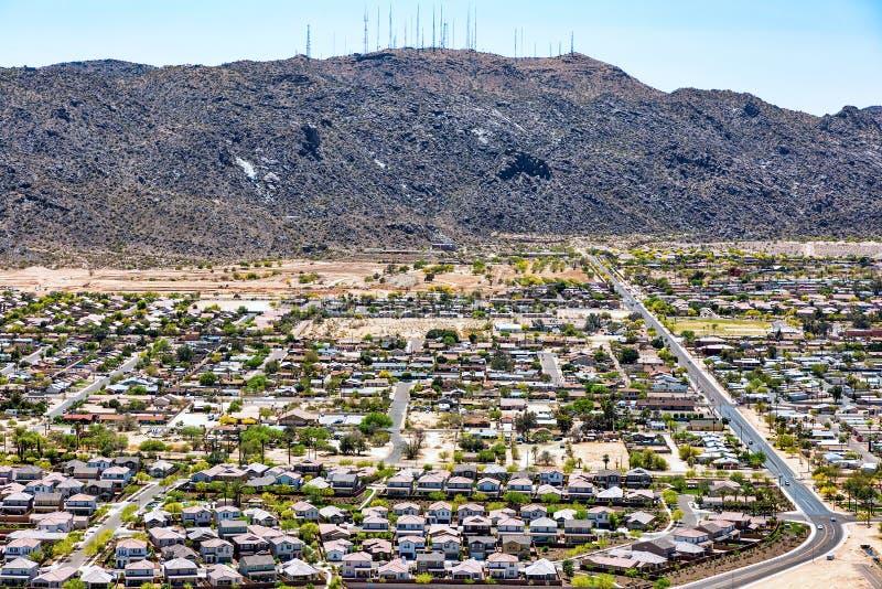 Växande befolkning i den sydvästliga öknen arkivbild