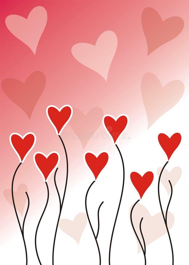 växande förälskelse vektor illustrationer