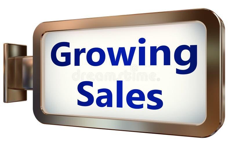 Växande försäljningar på affischtavlabakgrund vektor illustrationer