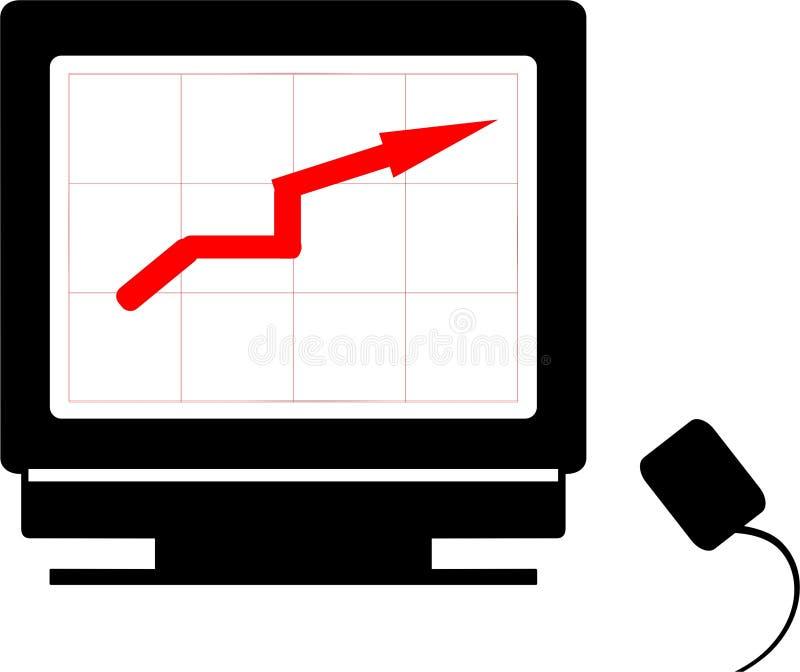 växande framgång stock illustrationer