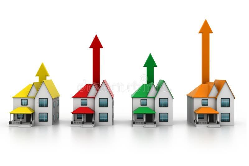 växande hemförsäljning stock illustrationer