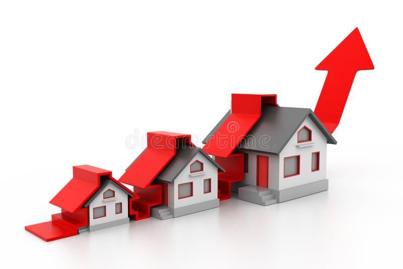 Växande hemförsäljninggrap royaltyfri illustrationer