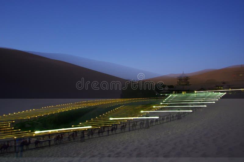 Växande Lake i DunHuang fotografering för bildbyråer