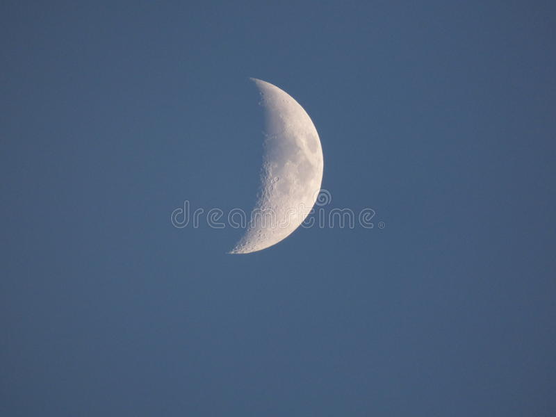 Växande moon royaltyfri bild