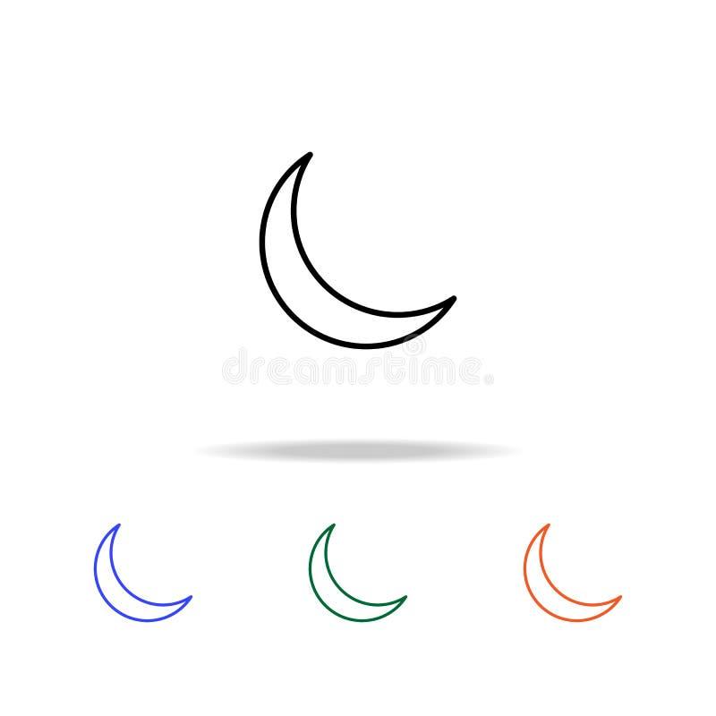 växande symbol Beståndsdelar av den enkla rengöringsduksymbolen i mång- färg Högvärdig kvalitets- symbol för grafisk design Enkel royaltyfri illustrationer