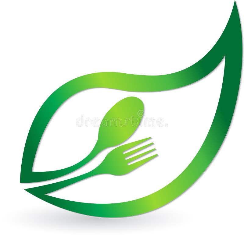 Växt- matlogo stock illustrationer