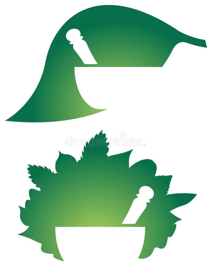 Växt- medicinlogo vektor illustrationer