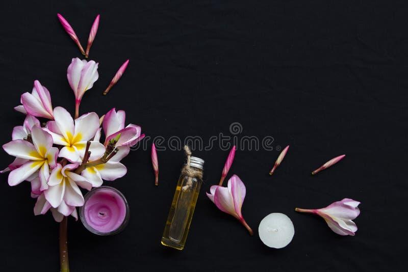 Växt- oljor från dofter för blommafrangipanilukter arkivbilder