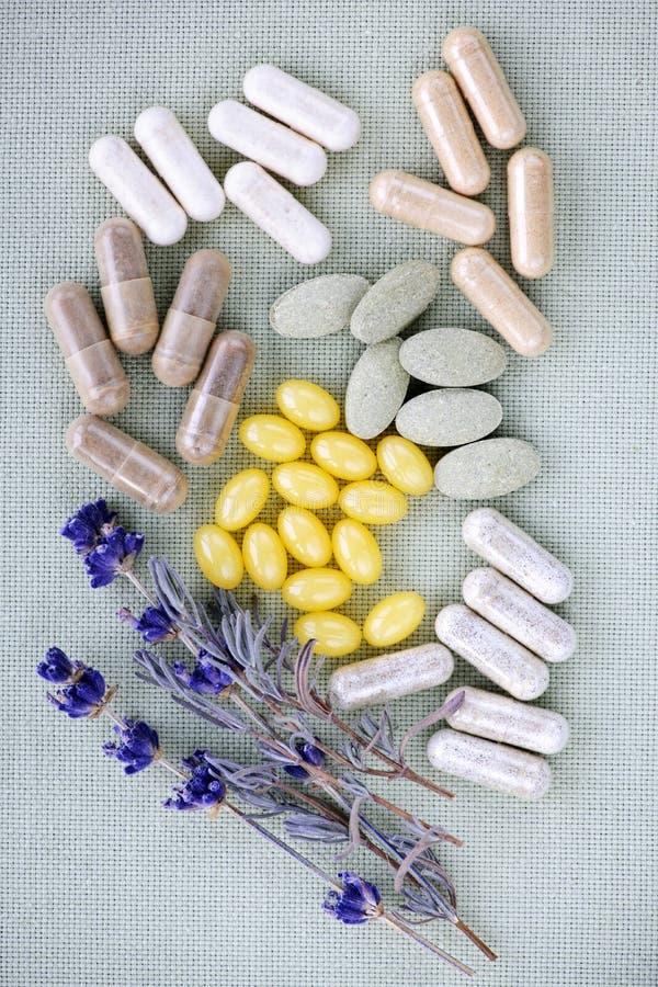 växt- pillssupplement fotografering för bildbyråer