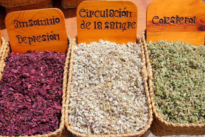 växt- traditionell marknadsmedicin royaltyfria bilder