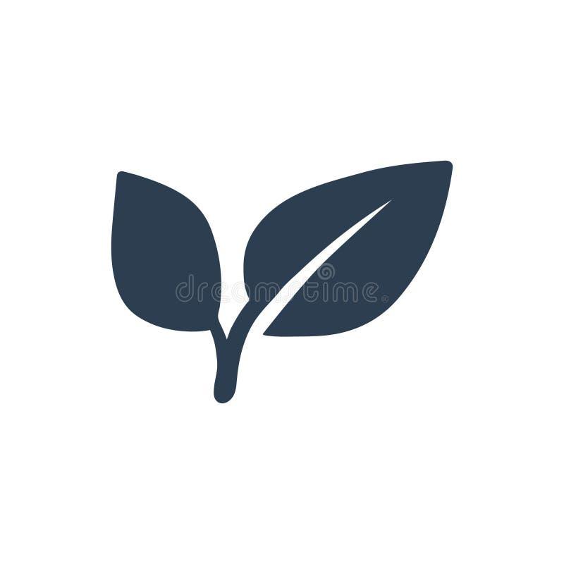 Växtbladsymbol vektor illustrationer