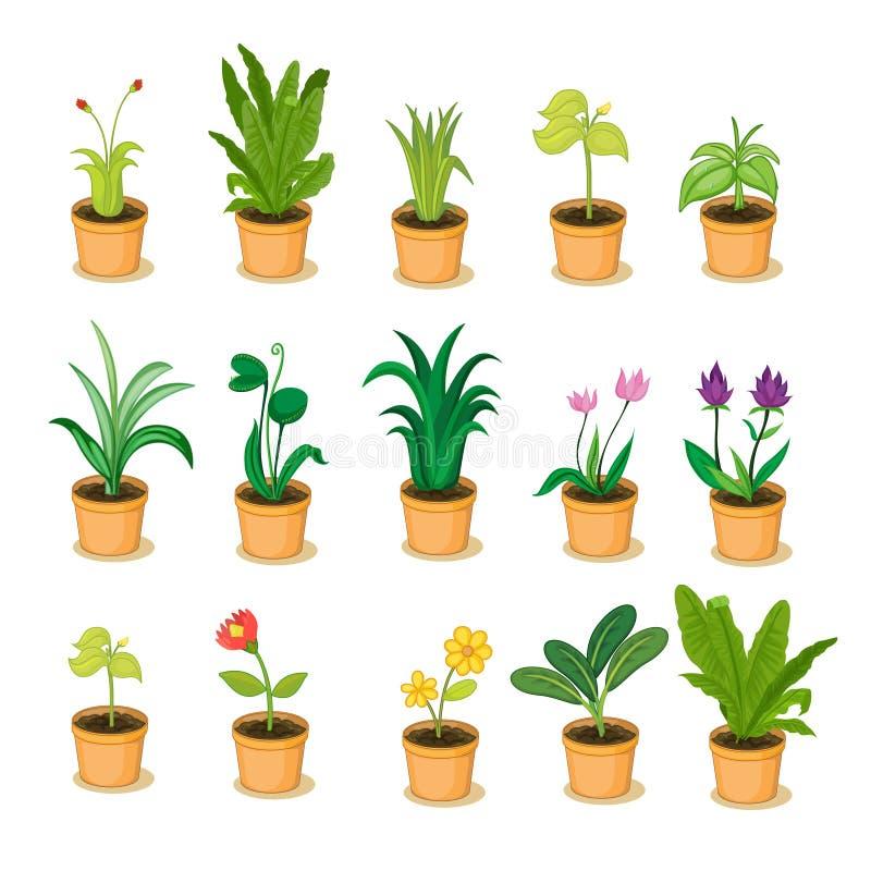 Växtsamling stock illustrationer