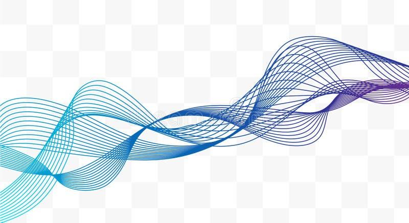 Våg av de svarta linjerna Abstrakta krabba band Hög upplösning vektor illustrationer