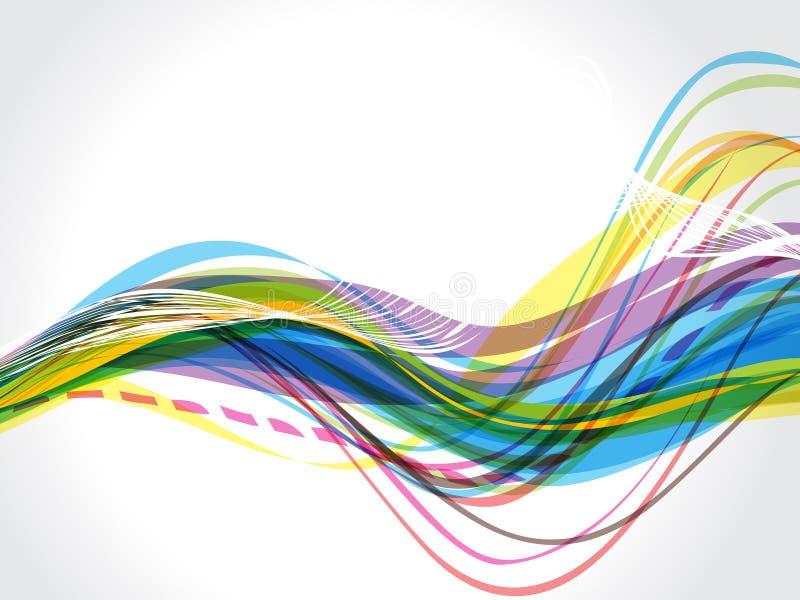 VÅG BAKCGRUND MED FLÖDE vektor illustrationer