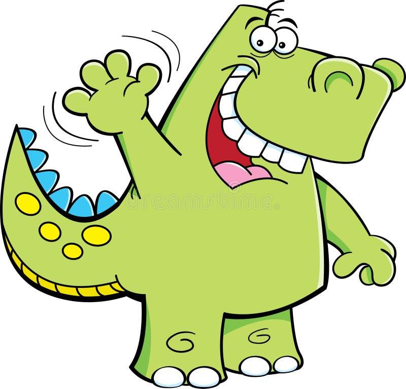 Våg dinosaur royaltyfri illustrationer