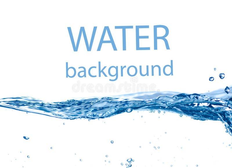 Våg för blått vatten royaltyfria foton