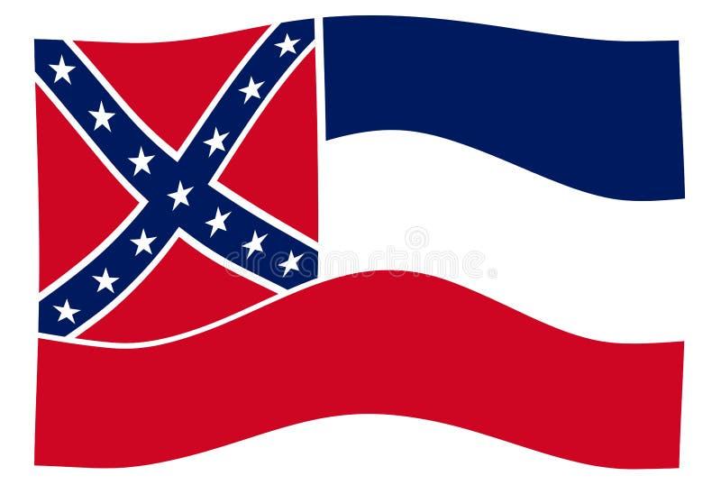 Våg för Mississippi statflagga stock illustrationer
