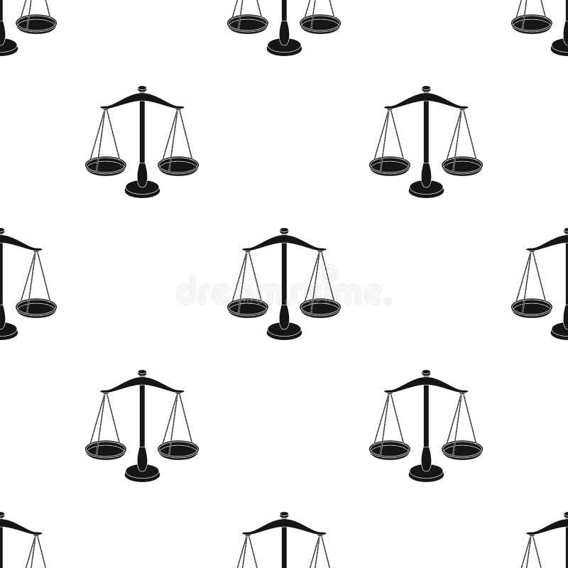 Våg för smycken Vikter för att mäta bestraffning Enkel symbol för fängelse i svart illustration för materiel för stilvektorsymbol vektor illustrationer