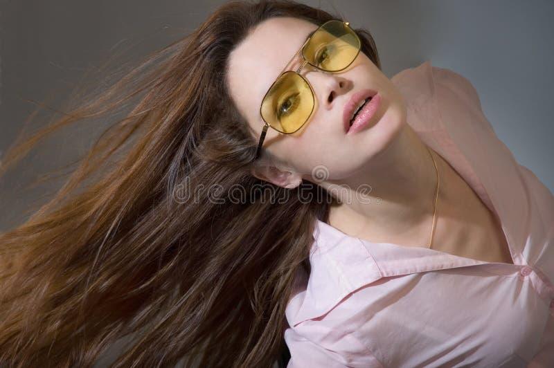 våg kvinnabarn för hår royaltyfri bild