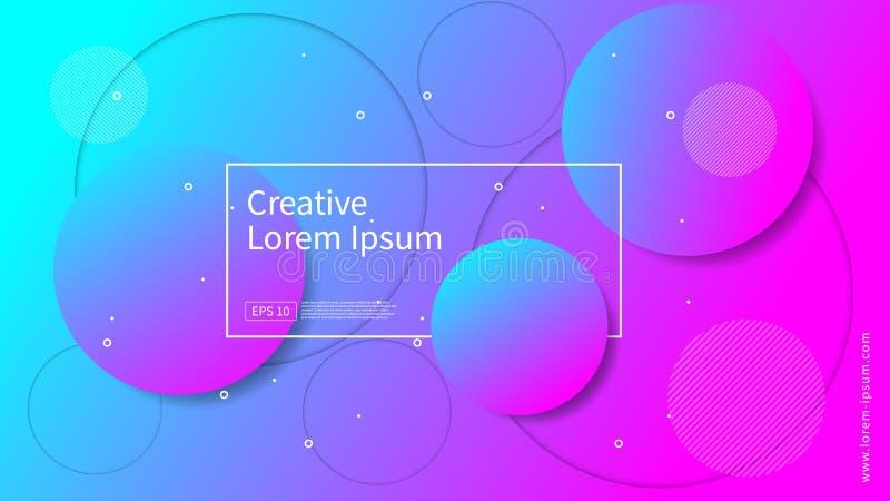 Våg och geometrisk färgbakgrundsdesign Dynamisk formsammansättning med lutningfärg Modern och futuristisk design för räkning royaltyfri foto