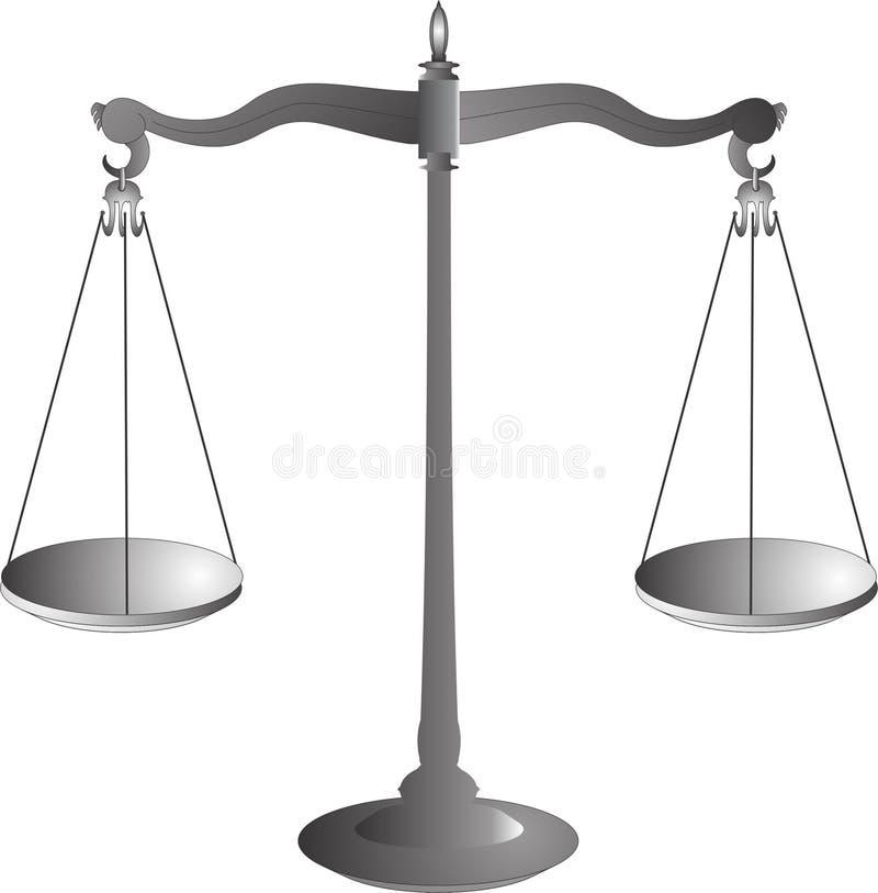 Våg symbolet av rättvisa stock illustrationer