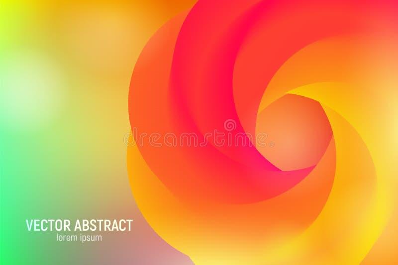 Vågflöde Shape abstrakt bakgrund 3d Modern färgrik flytande Design för musikaffischen, broschyr, orientering Abstrakt begrepp stock illustrationer