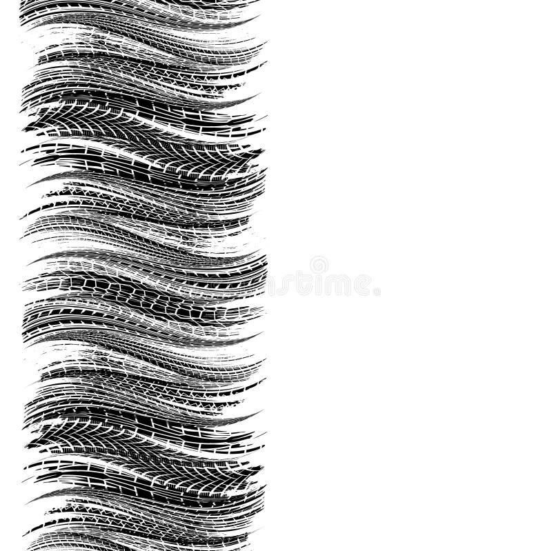 Våggummihjulspår stock illustrationer