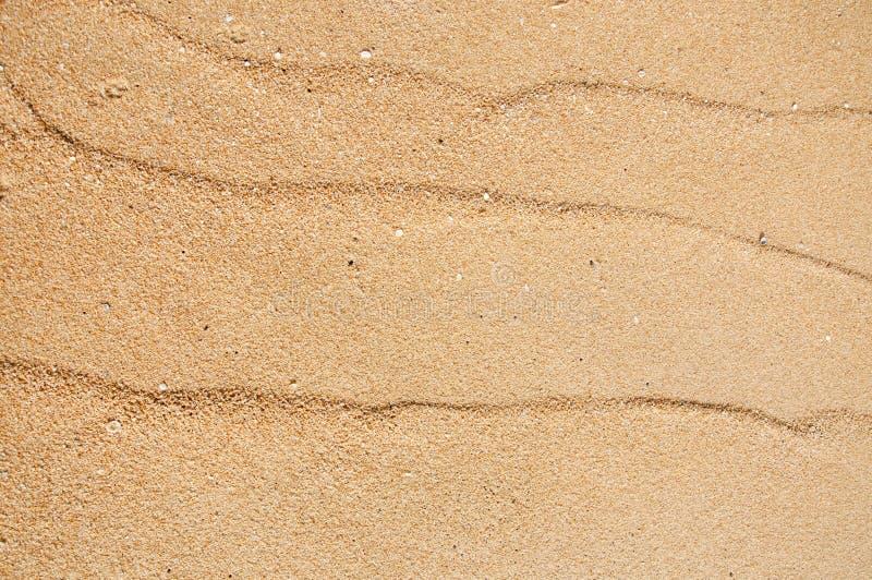 Vågmodell på sanden på stranden arkivfoton