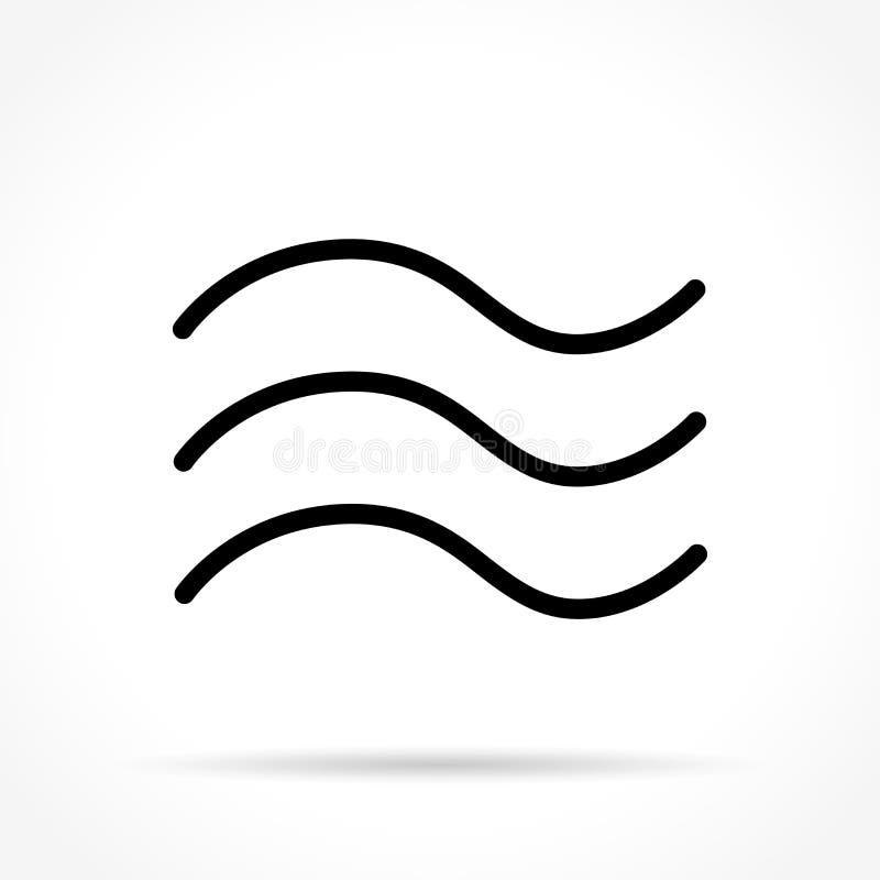 Vågor gör linjen symbol tunnare stock illustrationer