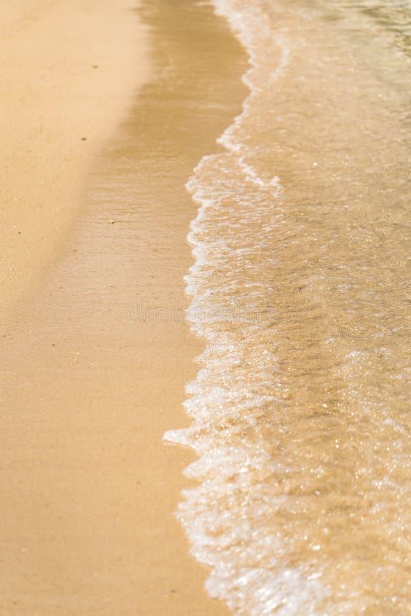 Vågor som kraschar på en sandig strand på en ö av okinawa i Japan royaltyfri foto