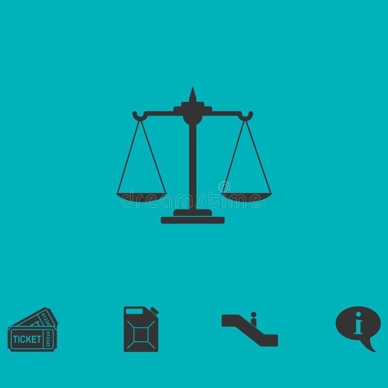 Vågsymbolslägenhet royaltyfri illustrationer